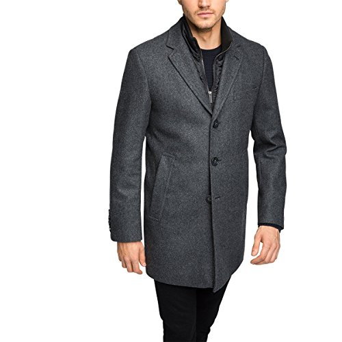 ESPRIT Collection 095EO2G005 Manteau, Gris (Anthracite 010), Large (Taille Fabricant: 50) Homme