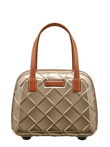 Stratic Leather & More Beauty Case Kosmetikkoffer, 36 cm, 15 L, Champagne