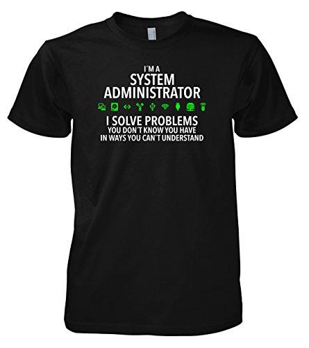 Chameleon Clothing Geek System Administrator 702285 - Maglietta Nero  S