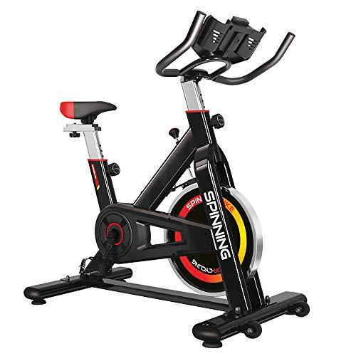 gridinlux. Bicicleta de Spinning. Pantalla LCD, Pulsómetro, Resistencia Variable, Altura Ajustable, Indoor, Volante de Inercia, Unisex