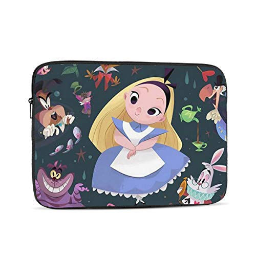 Laptop Sleeve Case- Multi Size Alice in Wonderland Notebook Computer Protective Bag Tablet Briefcase Carrying Bag,13 Inch