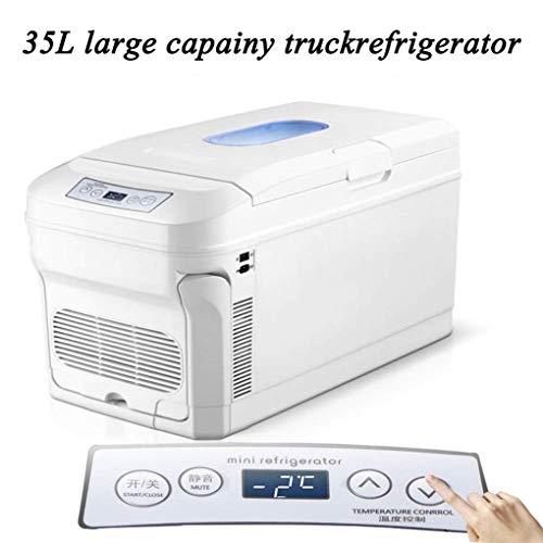 TUNBG elektrische koeler en warmer, draagbare koelkast met 12/24 V gelijkstroom en 110-240 V wisselstroom, thermo-elektrische mini-koelkast voor auto, boot, huishouden en kantoor