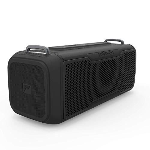 Braven BRV- X/2 - Wireless Bluetooth - Rugged Portable Waterproof Speaker with USB, Black (604203557)