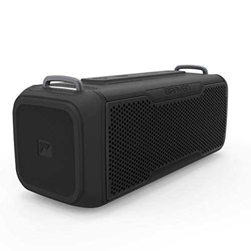 Braven BRV- X/2 - Wireless Bluetooth - Rugged Portable Waterproof Speaker with USB, Black (604203557)
