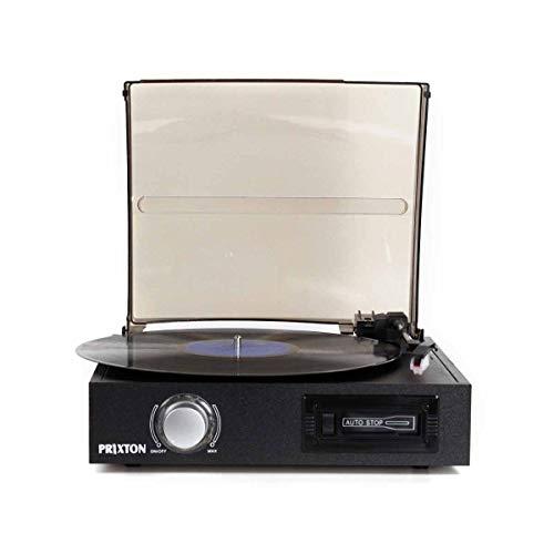 PRIXTON VC300 - Tocadiscos de Vinilo Vintage con Bluetooth, Reproductor y Convertidor...