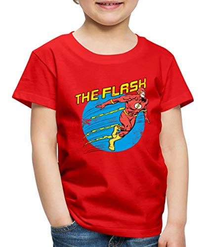 DC Comics Justice League The Flash Kinder Premium T-Shirt, 110-116, Rot