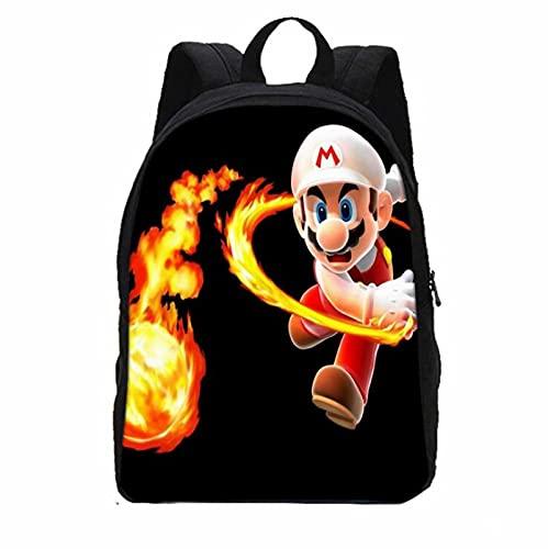 Super Mario School Bag Backpack Anime Hip Hop Rock Skull Animal Mario Women Men Boys Girls Kids Teenager Toddler School Bags Mochila Bolsa
