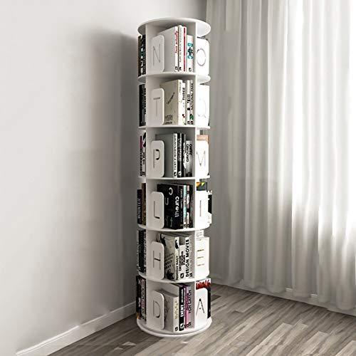 Porta CD e DVD Rack di archiviazione CD Libreria a 2/3/4/5/5/6 strati Ripiano per CD ruotabile a 360 ° Supporto per DVD Ps4 Rack di finitura Armadio per libri da terra ( Size : 48*48*188.5cm )