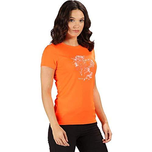 Regatta WMNS Fingal IV T-Shirt Femme Shock Orange FR : 4XL (Taille Fabricant : Taille 24)