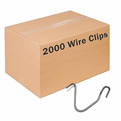 Zareba TPWC100 T-Post Wire Clips, 2000 Pack