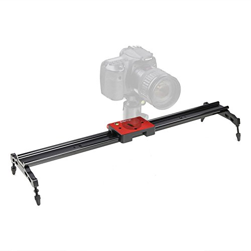 Koolertron Aluminum Alloy Video Track Slider in Video Shooting Rail Stabilization System with 1/4