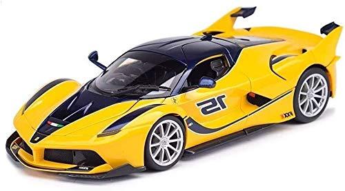 1:18 Escala FXX K. Modelo de simulación de Coches, Altamente Detallada aleación de Metal Fundido Modelo, Modelo Exclusivo de colección, Roadster Car Model Kit, 26.5x11.5x6CM (Color : Red)