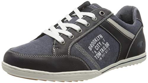 TOM TAILOR 805100330, Zapatillas para Hombre, Azul (Navy 00003), 44 EU