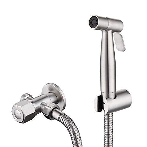 KANJJ-YU Pañal del paño del bebé Aerosol de la ducha Accesorio - 304 Acero inoxidable Bidé Conjunto Pistola de pulverización del aerosol del bidé Cabeza de baño Bidet WC Companion Pulverizador