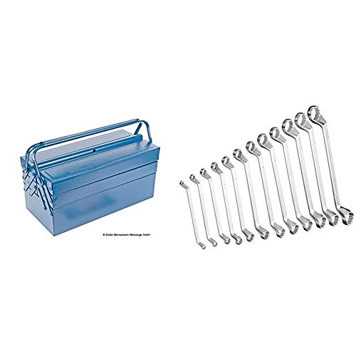 Mannesmann 211-430 - Caja Herramientas Metalica 430X200X200 + - M 140-12 - Juego de llaves combinadas, 12 piezas, 6-32 mm, CV