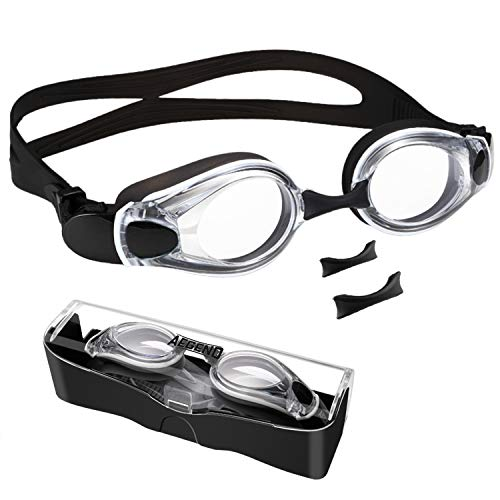 Aegend Swim Goggles, Flat Lens Swimming Goggles With 3 Adjustable Nose Pieces, No Leaking Anti-Fog UV Protection Swim Goggle For Adult Men Women Youth Kids Child Indiana