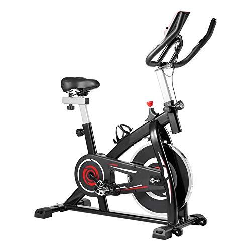 PPuujia Equipo de fitness Bicicleta de spinning para interior de entrenamiento de spinning Bicicletas de ejercicio para el hogar, equipo de fitness y gimnasio (color: rojo)