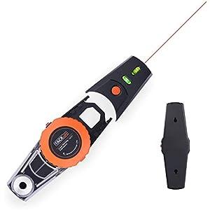 Nivel Láser, TACKLIFE MI01 Marcador de Láser de 9 M, Gran Angular 360 °, Adsorción de la Bomba de Vacío, Nivel de Dos Burbujas, Precisión 2 mm/m, con Caja de Polvo