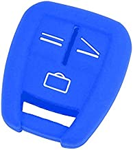 Fit for Vauxhall Opel Astra Zafira Vectra Tigra for Omega Signum Frontera 3 Button Remote Car Key Case Cover Silicone Fob Shell (BLUE)