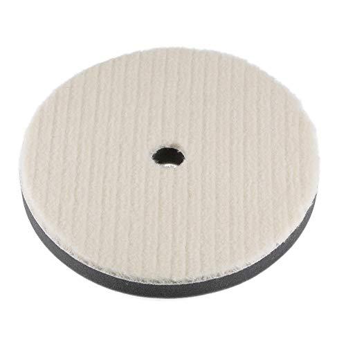 uxcell - Almohadilla de fieltro de lana de 7 pulgadas para pulir, con agujero grueso para pulidor orbital automático