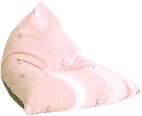 mejor marca ZL-Sillón ZL-Sillón ZL-Sillón puff sofá Perezoso Bordado a Juego con un Solo Color balcón Bean Bag Dormitorio Mini sofá (Color   A)  precio mas barato