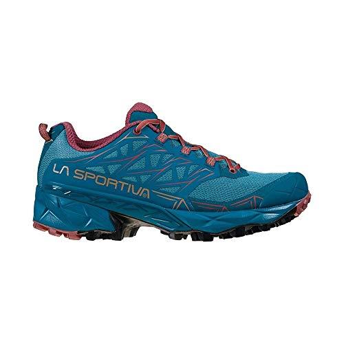 LA SPORTIVA Akyra Woman, Zapatillas de Trail Running Mujer, Ink/Rouge, 38 EU