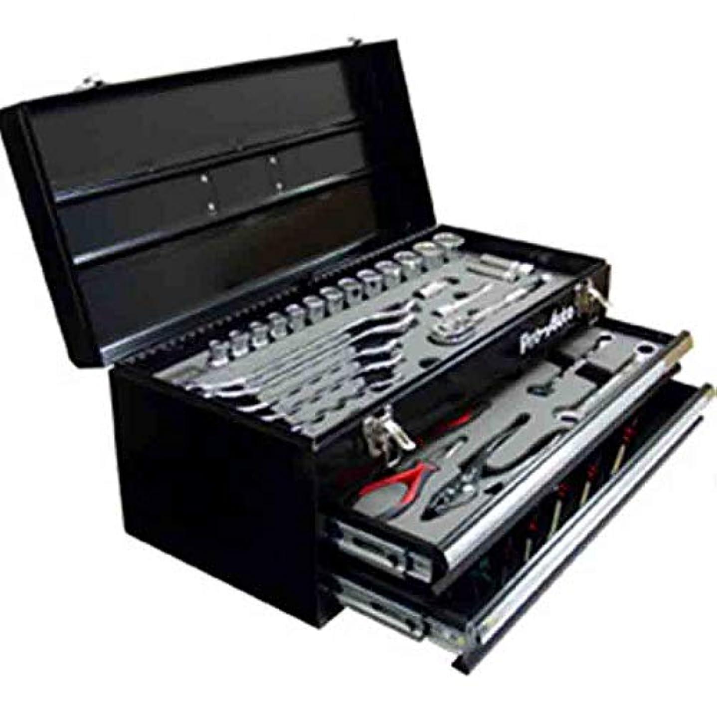 土地抵当繊毛プロ仕様40点工具セット KAZ-40PC ソケット ジョイント プライヤー レンチ ニッパー ドライバーなど 和C 代不