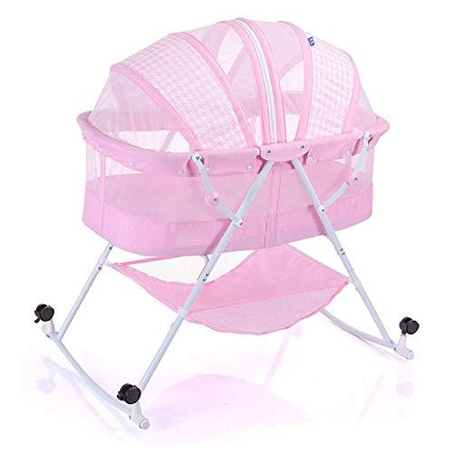 Multi-functionele Baby-bed, licht en opvouwbaar, eenvoudig te bedienen, geschikt for 0-12 maanden Cocoon Folding Indoor & Outdoor Travel Bassinet (Color : Pink)