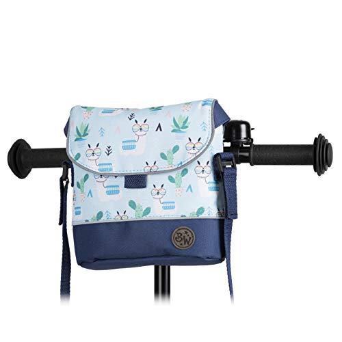 BambinIWelt Lenkertasche für Roller und Fahrrad, Fahrradtasche für Kinder, wasserabweisend, mit Schultergurt, für alle Puky Räder und Roller (Modell 28)
