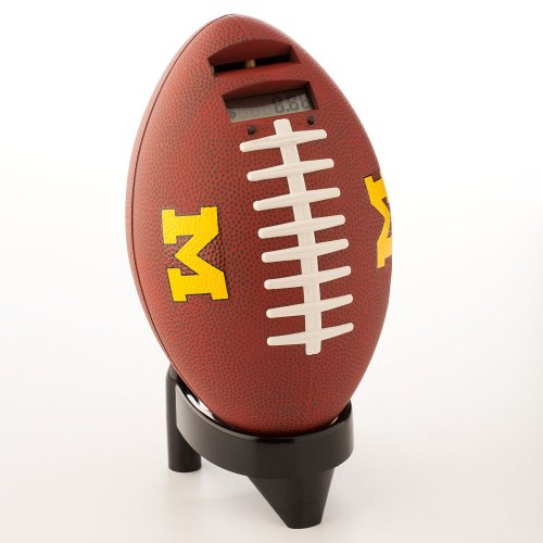 Totes Collegiate Football Coin Bank - Plays Sound with Every Deposit - University of Michigan by Tandy