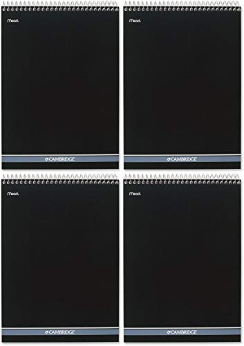 Cambridge Wirebound Numbered Legal Pad, 8.5 X 11 Inches, 70 Sheets (59006), White, 12.6' x 8.5' x 0.4' - 4 Pack