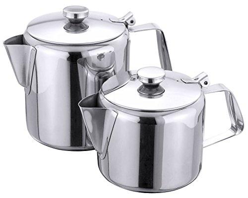 Teekanne aus Edelstahl 18/10, mit Ausgusssieb und Scharnierdeckel / Inhalt: 0,8 oder 2,8 Liter | ERK (A2 - Inhalt: 2,8 Liter)