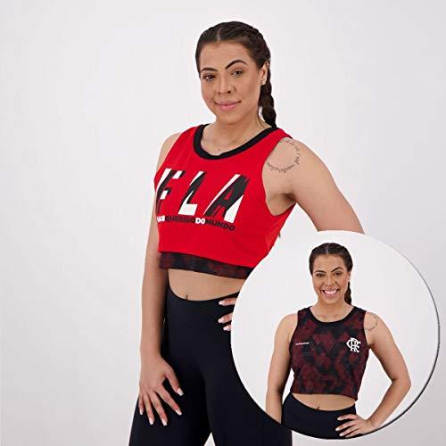 Cropped Flamengo Feminina Zoom Dupla Face Braziline GG