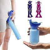 QWEWQE 2Stück Notfall-Urinal, tragbarer Urin-Trichter aus Silikon, Unisex Tragbare Urinflasche 750 ML, Hrinkable Persönliches Pee Urinal für Camping, Stau und Warteschlangen