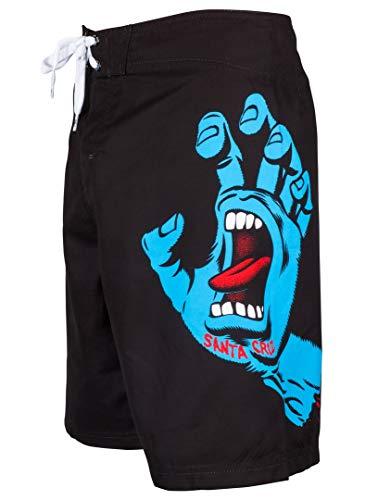 Santa Cruz Boxer Da Mare Bambino Screaming Hand Nero-Blu (12-14 Anni, Nero)
