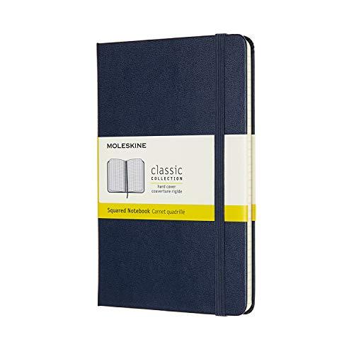 モレスキン クラシック ノートブック ハードカバー ミディアムサイズ サファイアブルー 方眼 QP051B20