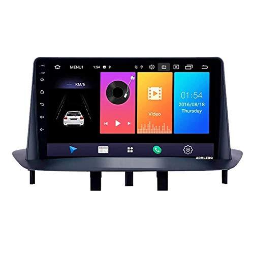 WY-CAR Android 8.1 Navegador De Reproductor MP5 Estéreo con Radio De Coche De 9 Pulgadas para Renault Megane 3 2009-2014, FM/Bluetooth/GPS/Controles del Volante/Mirror Link/Cámara De Visión Trasera