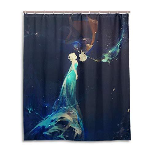 NBHJU ELSA Duschvorhang Badezimmerdekoration wasserdichte Duschvorhänge mit 12 Kunststoffhaken 60 x 72 Zoll