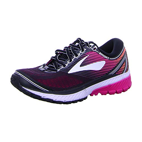 Brooks Ghost 10 Shoe - Women's Running Black/Pink Peacock/Living Coral