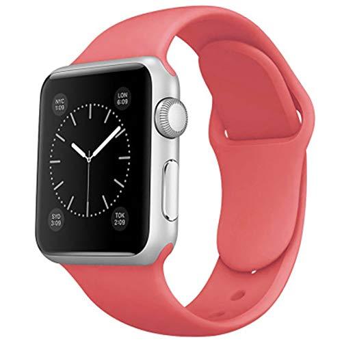 Shazikaihui Compatible con Apple Watch Correa 38mm 42mm 40mm 44mm, Deportivas de Silicona Correas de Repuesto Compatible para iWatch SE Series 6 5 4 3 2 1 (38mm/40mm-S/M,26)