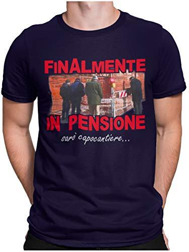 STAMPATEK Maglietta Pensione Capo Cantiere T-Shirt Pensionato Uomo Divertente Idea Regalo Festa Sorpresa Tshirt Ironica Manica Corta