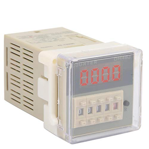 O111ROM - Contador digital (pantalla LCD de 3 W, para comunicación de control remoto (12 V CA/CC)
