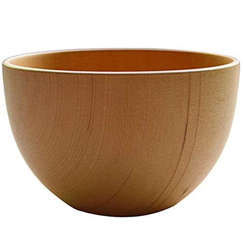 ZH Bol en bois, sapin chinois Riz Bol à soupe Vaisselle famille enfant Anti-chute Anti-échaudage (taille : 10 * 6cm)