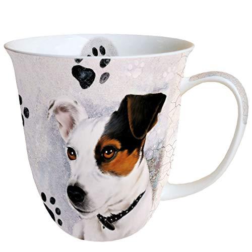 Ambiente Becher Mug Tasse Tee / Kaffee Becher ca. 0,4L Hund Jack Russel