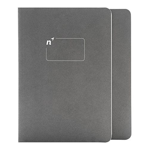 Northbooks A5 Blank Notebook Journal | 5.8� x 8.2� Unlined Notebooks Plain Journals | Soft Cover Eco-Friendly Premium Recycled Cream Color Paper 144-Pages | Made in USA | 2-Pack