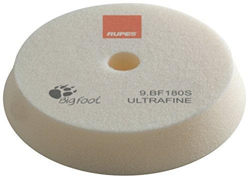 Rupes BigFoot, Polierschwamm, Klett, 150/180 mm, 1 Stück, Pad zum polieren mit Poliermaschine zur Lack Aufbereitung (WEIß - ULTRA FEIN - EXTRAFINE)