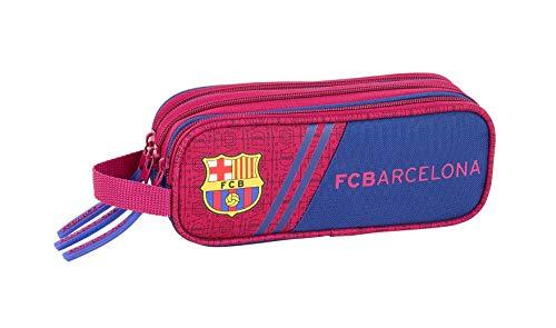 FCB FC Barcellona corporativa Ufficiale Astuccio Triplo Zip 210x 70x 85mm