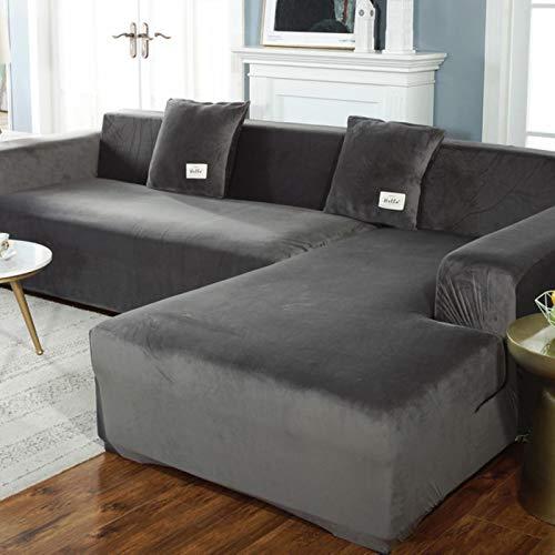 GoGOO Sofá Cubiertas Caise Longue para la Sala de Estar Sillón Sillón Elástico Couch Cubierta 2 y 3 plazas de Funda de Muebles