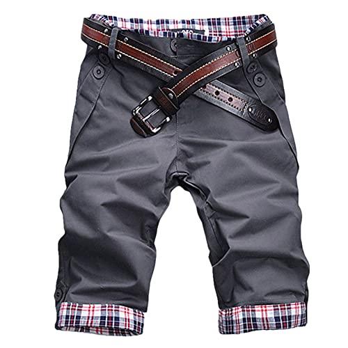 Hombres Pantalones Cortos De Algodón Para Hombre Casual Slim Fit Streetwear Hombre Ropa Plus