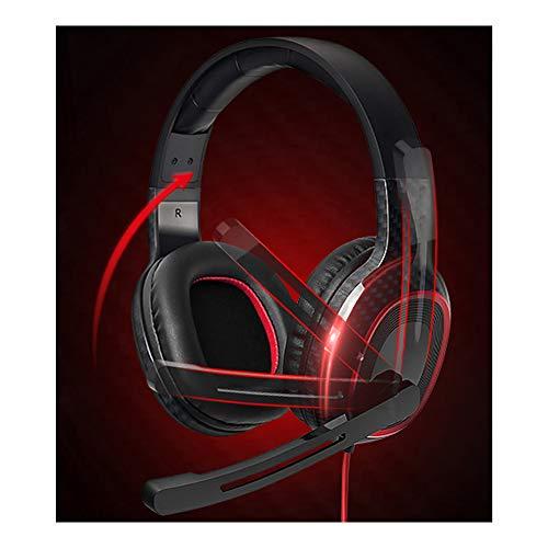 NQO Casque de Jeu Casque de Bureau USB monté sur la tête Casque Anti-Bruit pour Casque d'écoute Son stéréo, Grande Bobine Mobile de 40 mm
